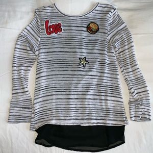 Cute Xhilaration Knit Top With Embroidered Patches